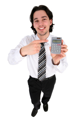 Student Holding Calculator