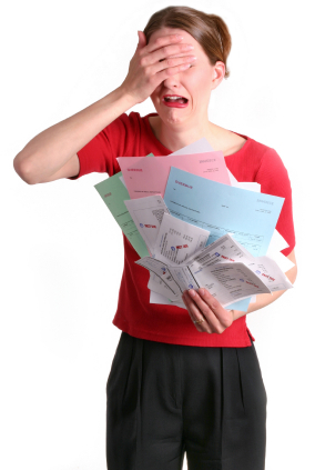 Woman Holding Bills