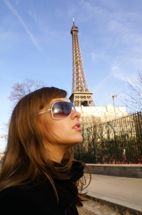 Eiffel Tower And Student