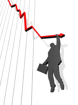 Man Falling Off Graph