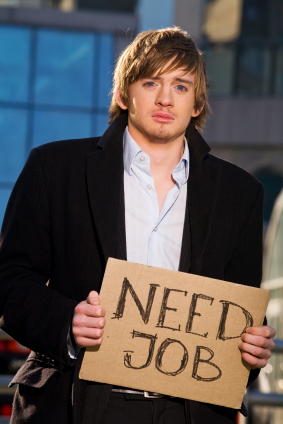 Man Holding Need Job Sign