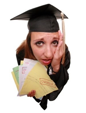 Image result for student in debt