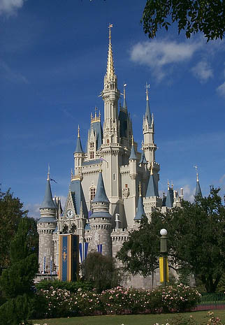 Cinderella's castle in Orlando, Florida