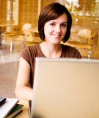 Girl Studying to Complete Her Online Associates Degree