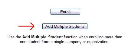 Button for enrolling multiple students in the same course.