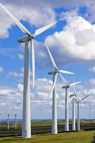 Wind turbines and green education