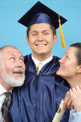 A college student and his parents